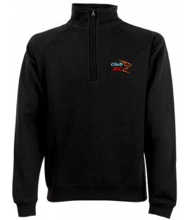Sweat-shirt col zippé