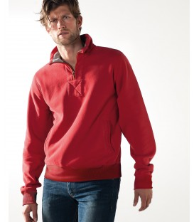 Sweat-shirt col zippé homme
